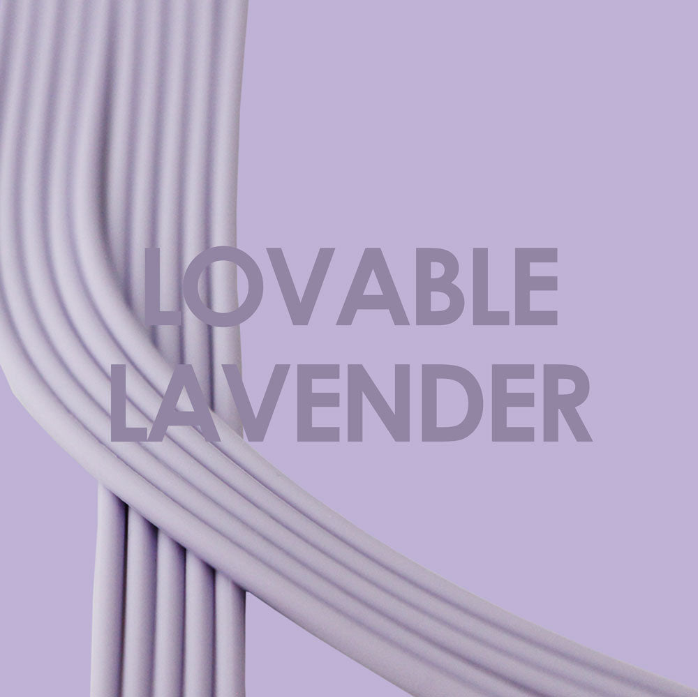 Lovable Lavender-Silver_Bra straps set 4 lavender silicone adjustable straps & 4 silver hooks Brappz USA Canada SKU# 7640174311538 brappz.co Brappz multi-purpose silicone jewelry USA