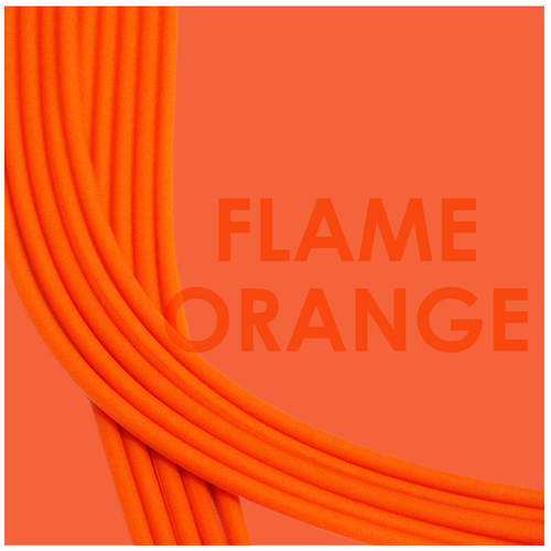 Straps flame orange soft silicone adjustable Brappz SKU#7640174310517 brappz.com