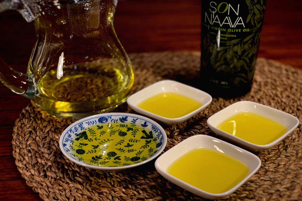 Son Naava. Organic, biodynamic, Extra Virgin Olive Oil in small pots.
