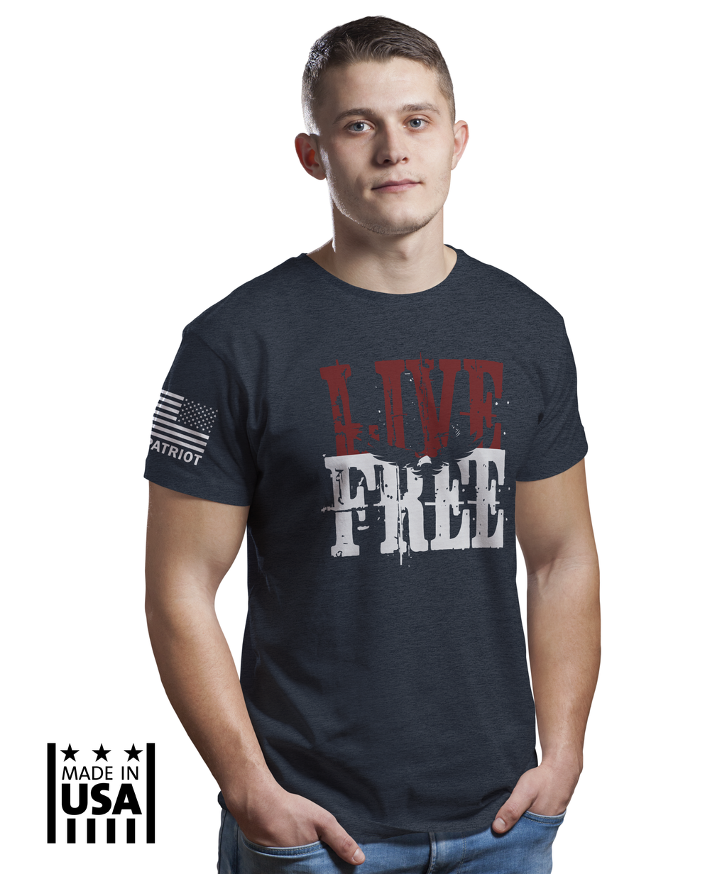 Performance Tri-Blend: LIVE FREE - TruPatriot