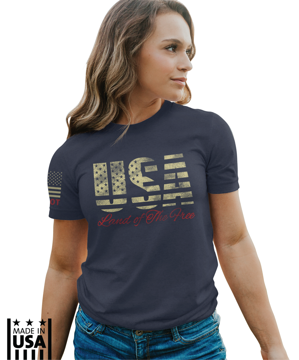 Women's Relaxed Fit: USA Throwback - TruPatriot