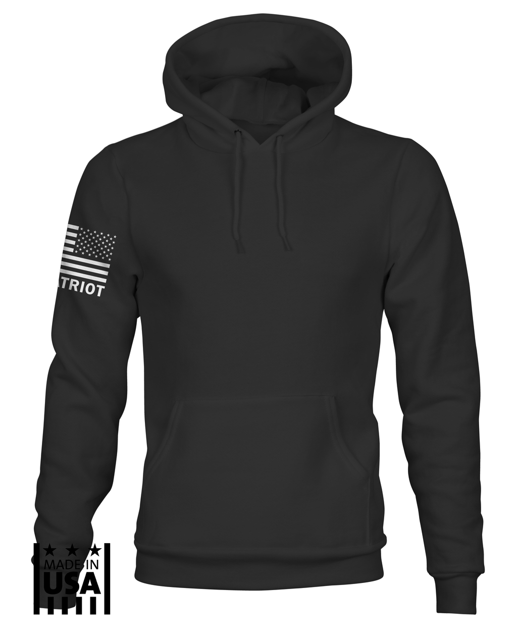 Hoodie: Basic - Black - TruPatriot