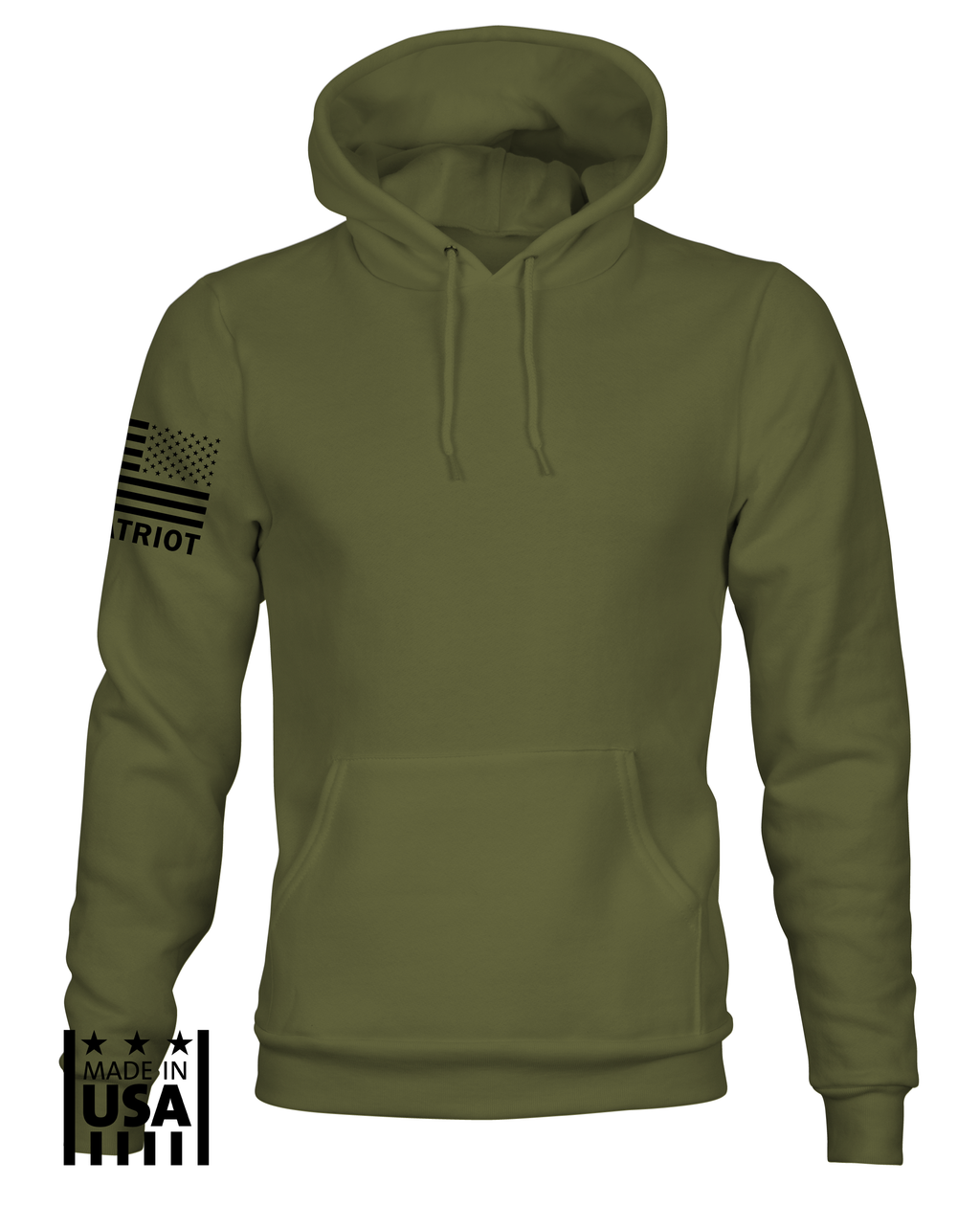 Hoodie: Basic - OD Green - TruPatriot