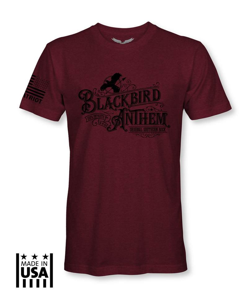 Performance Tri-Blend: Blackbird Anthem - Tri Red - TruPatriot