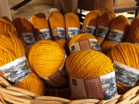 Naples yarn mustard yellow