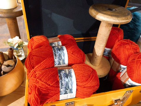 Bold Orange Yarn