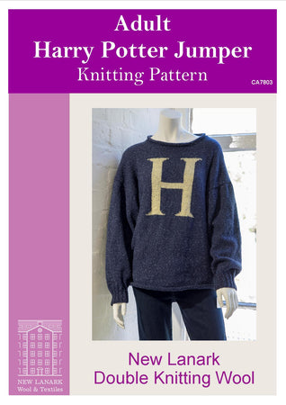 Harry Potter Adults Jumper DK Knitting Pattern - New Lanark Spinning Company