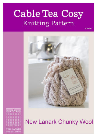 Cable Tea Cosy Chunky Pattern - New Lanark Spinning Company