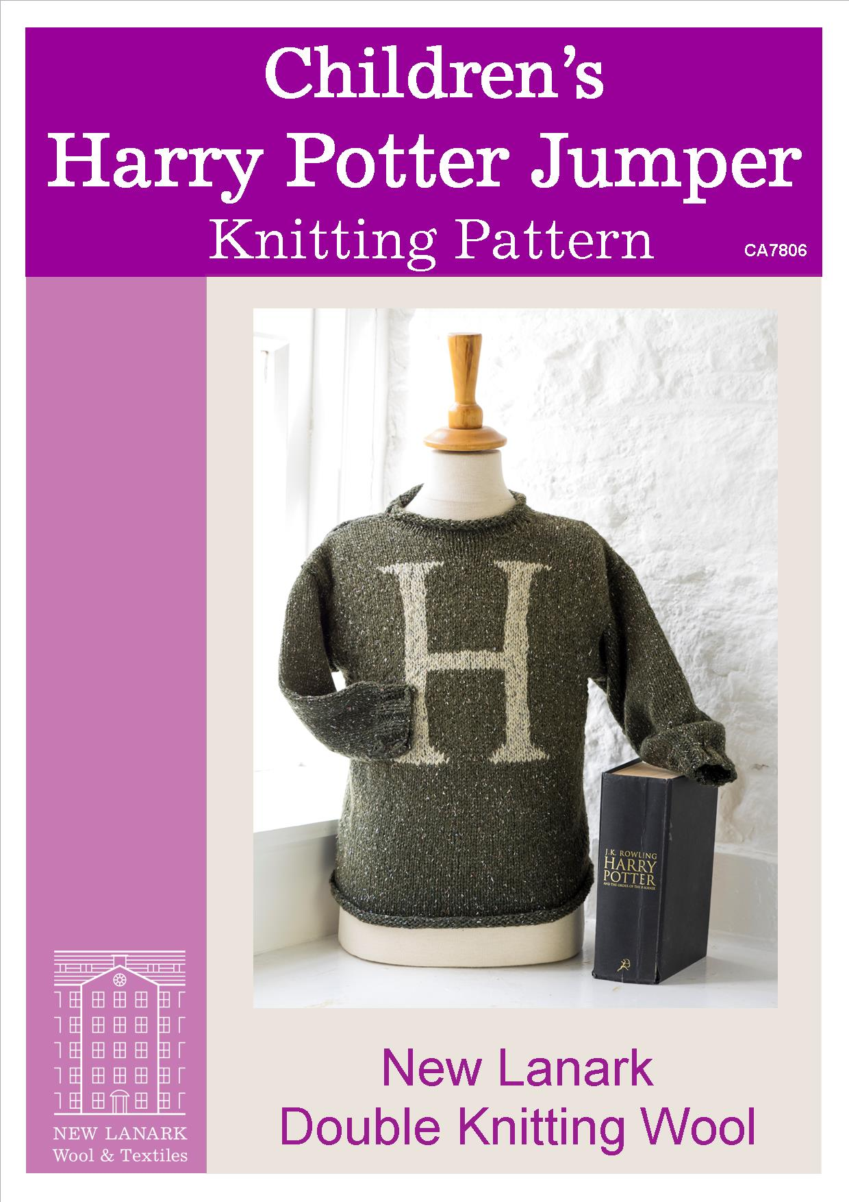 Harry Potter Childrens Jumper DK Knitting Pattern