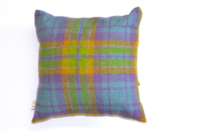 Organic Tartan Cushion Large