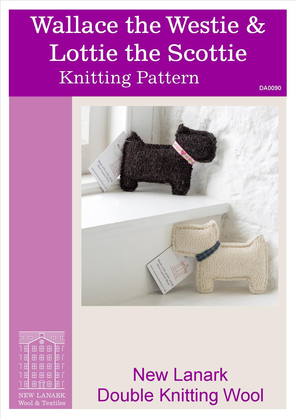 Wallace the Westie & Lottie the Scottie DK Pattern