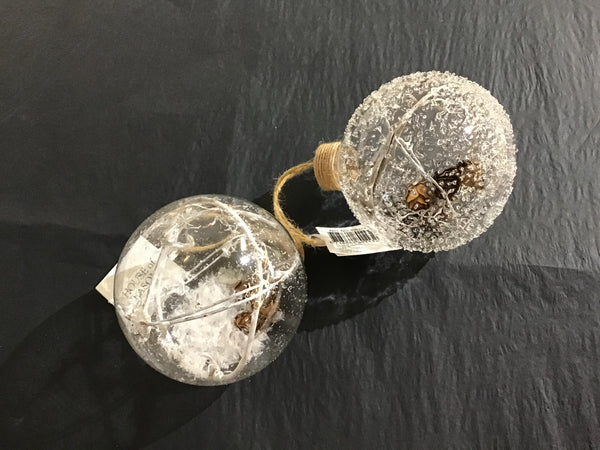 Xmas 2020  - Glass Pine Cone Bauble