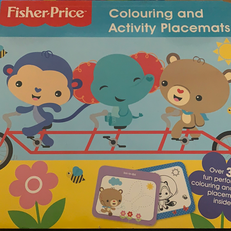 Book - Fisher Price Colouring and Activity Placemats