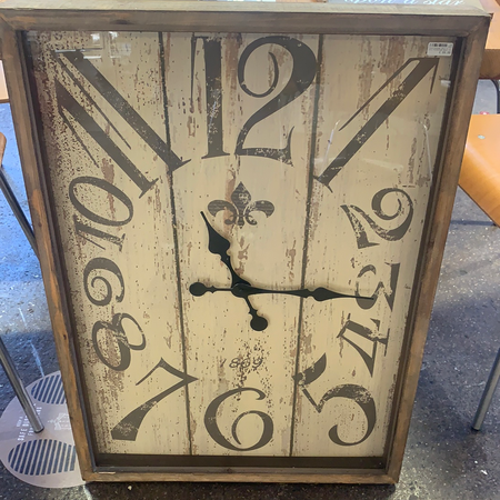 Clock - Distressed Chic Ivory - New Lanark Spinning Company