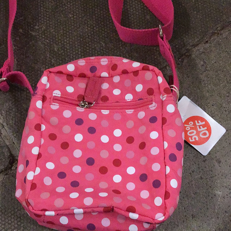 Spirit - Pink Dots Canvas Bag Small - New Lanark Spinning Company