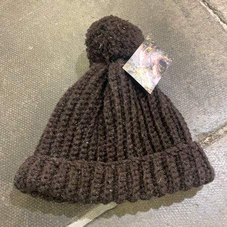 Brown Crochet Hat - New Lanark Spinning Company