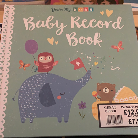 Book - Baby Record Book - New Lanark Spinning Company