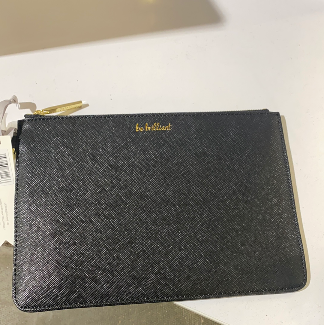 Katie Loxton - 'Be Brilliant' Clutch Black
