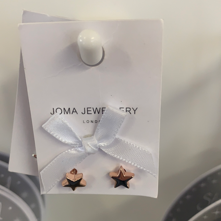 Joma - Rose Gold Star Stud Earrings - New Lanark Spinning Company