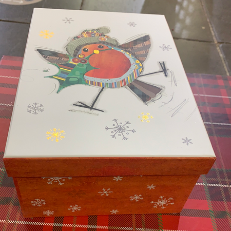 Set of 3 Christmas Gift Boxes- Robin - New Lanark Spinning Company