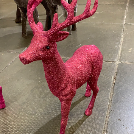Pink Glittery Stag - New Lanark Spinning Company