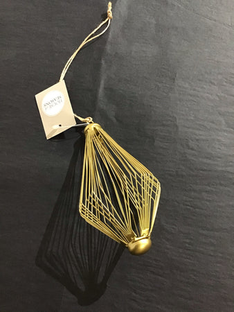 Xmas 2020 - Gold Wire Drop Tree Decoration - New Lanark Spinning Company