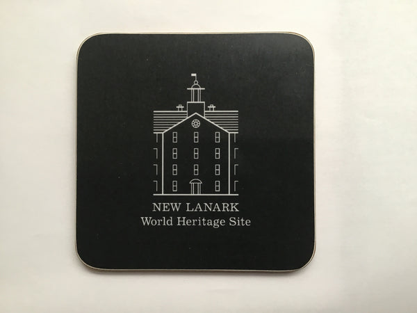 Coaster - New Lanark Logo, Grey