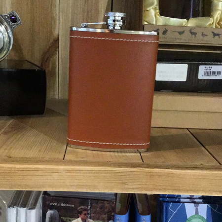 Brown hip flask - New Lanark Spinning Company