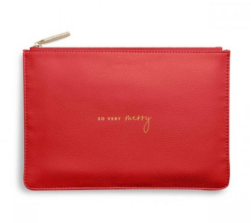 Katie Loxton 2020 - Red, So Very Merry Zipped Pouch - New Lanark Spinning Company