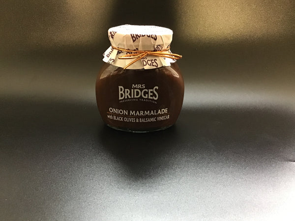 Mrs Bridges Onion Marmalade Black Olives Balsamic Vinegar - New Lanark Spinning Company