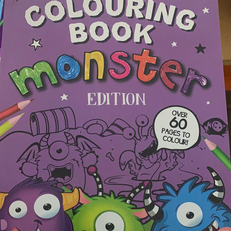 Book - Colouring Book, Monster Edition - New Lanark Spinning Company
