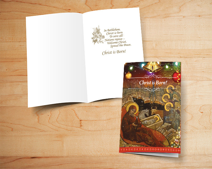 Box of 16 Religious Christmas Cards - 001