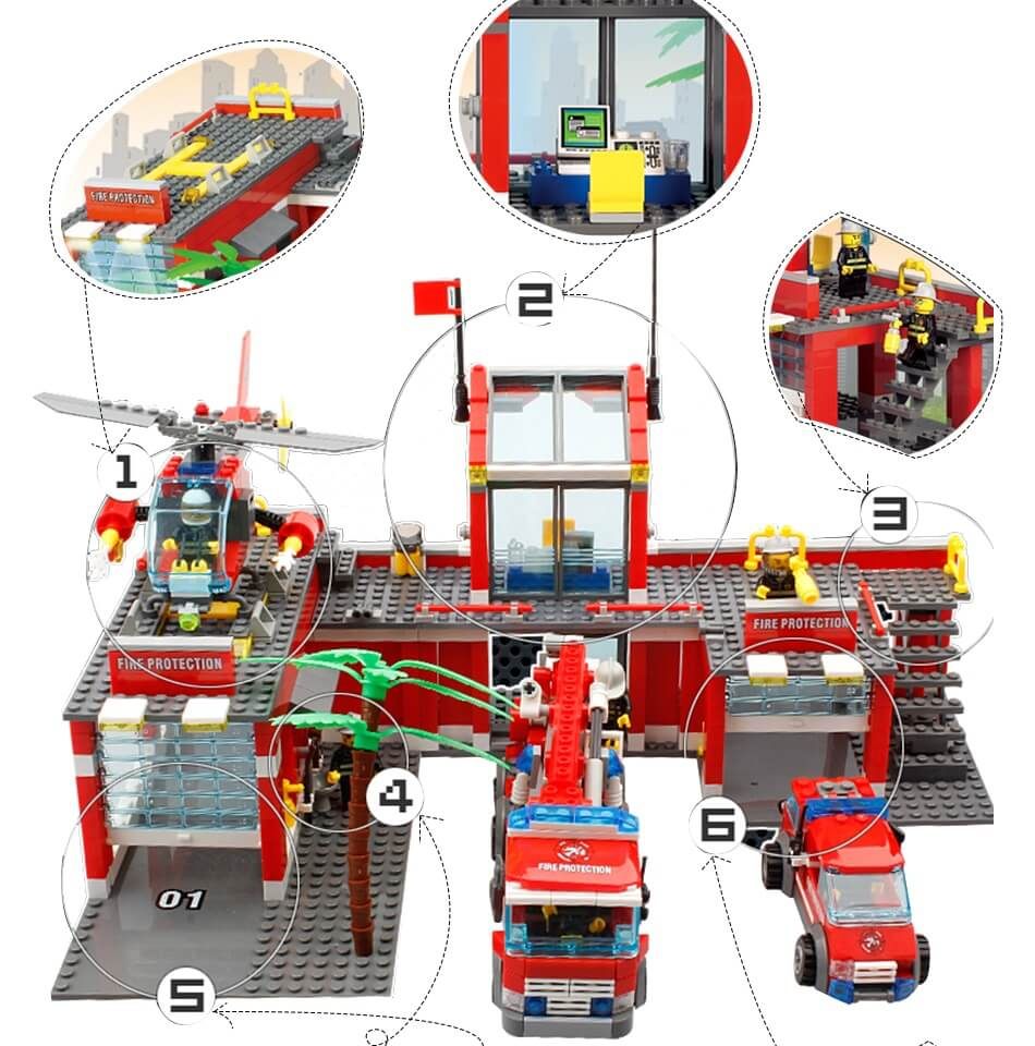 City fire station 774 pieces building blocks great for kids - My Toy Gifts.  City fire station 774 pieces building blocks great for kids - My Toy Gifts