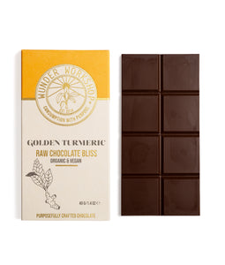 RAW CHOCOLATE BLISS BAR - GOLDEN TURMERIC
