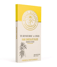 Load image into Gallery viewer, RAW CHOCOLATE BLISS BAR - TURMERIC x CBD