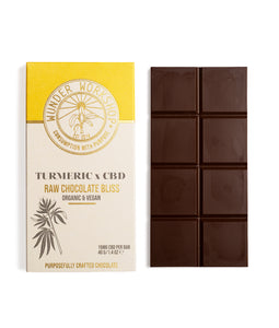 RAW CHOCOLATE BLISS BAR - TURMERIC x CBD