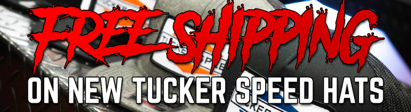Free shipping on all Tucker Speed hats