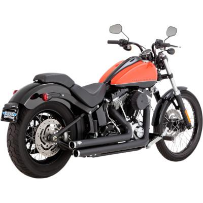 Big Shots Staggered And Long 2-Into-2 Exhaust Systems - Vance & Hines - Exhaust - Softail 86-17 (4598720266317)