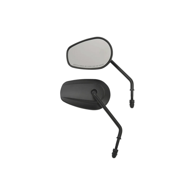Drag Specialties Oem-Style Short Teardrop Mirrors, Black (4598813589581)