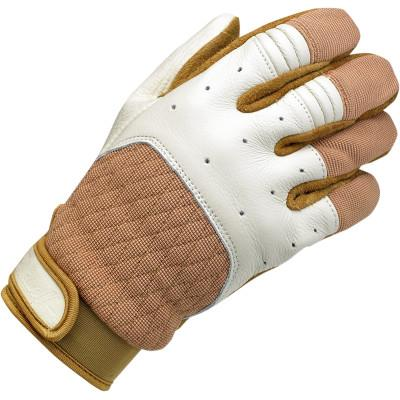 Tan/White Bantam Gloves Xs - Gloves - Biltwell (4598758441037)