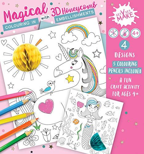 Magical Get Set Make Colouring in Set with Honeycombs