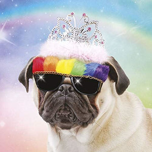 Pug in Sunglasses Greeting Card Lenticular 3D