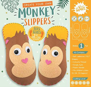 Get Set Make Create Your Own Felt Monkey Slippers