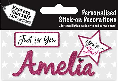 self adhesive Pink Female Name 'Amelia' Sticker