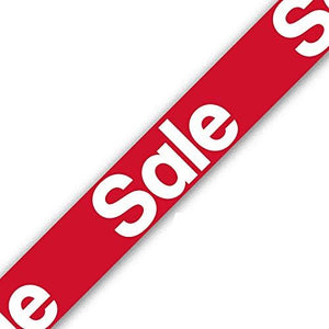 Red Foil Sale Banner 9ft (2.7m) long Repeats 3 Times
