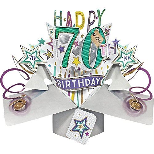 Second Nature Pop Ups 70th Birthday Card