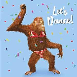 Dancing Chimp Greeting Card Lenticular 3D