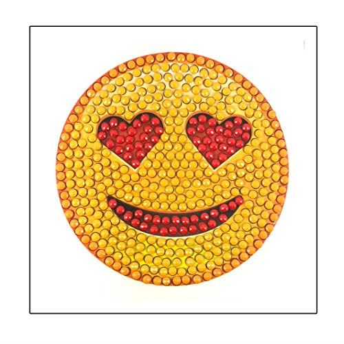 Crystal Art In Love Emoji Sticker 9x9cm