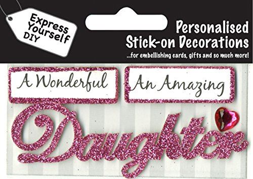 self adhesive, Daughter (Pink) Caption Topper