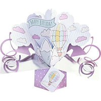 Suki Gifts International Pop Up Card Just for You Hot Air Balloon, Multi-Colour, 13 x 21 x 19 cm